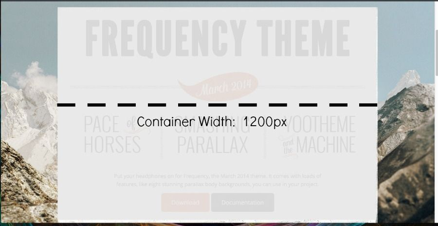 container width