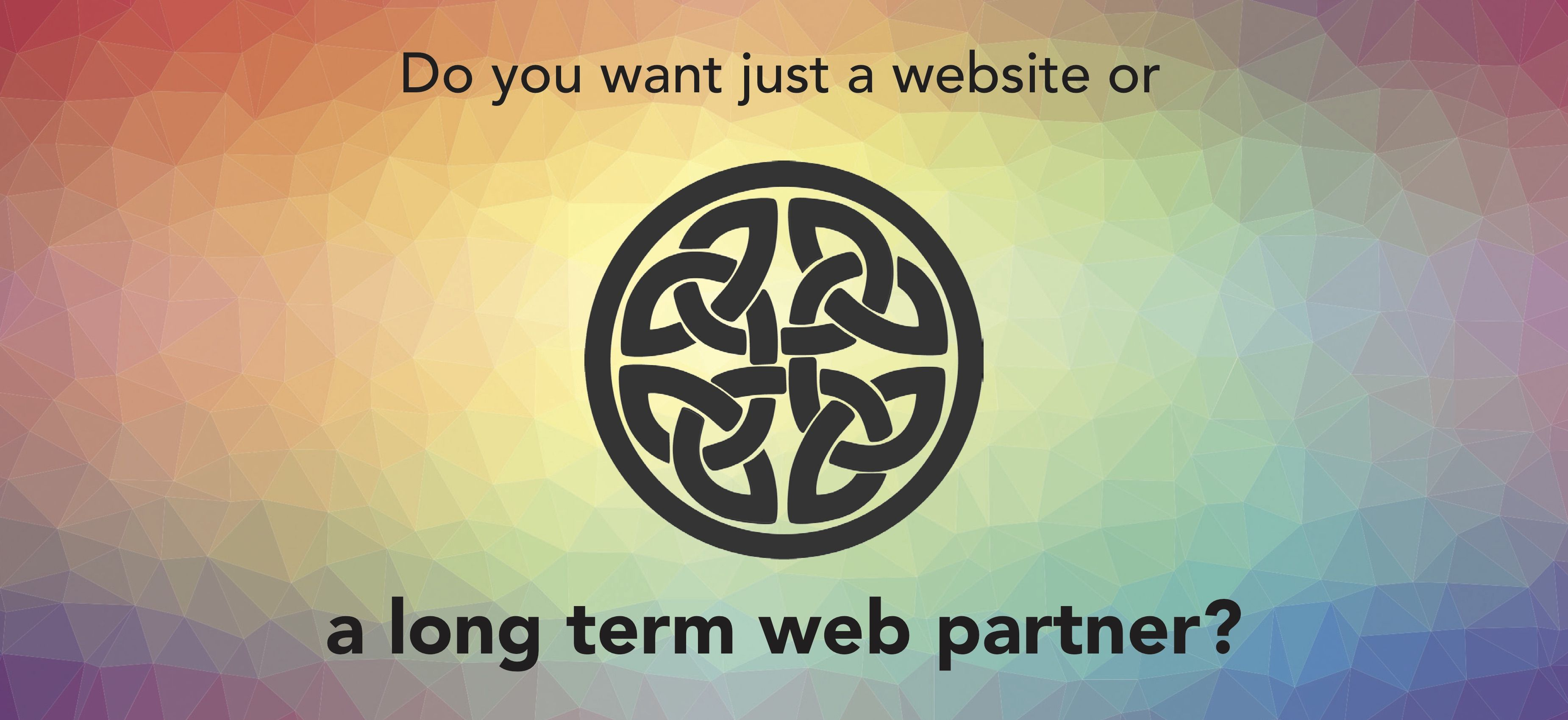 Do you want just a website or a long term web partner?